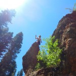 Climbing Around Grotto Falls Outside Provo, Utah
