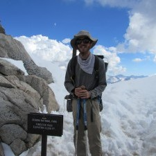 Me at the top of Forester Pass on the PCT in 2014
