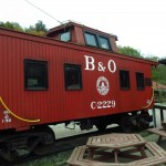 B&O Railroad Caboose in Clarksburg, West Virginia