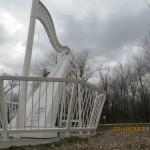 Blind Boone Park Harp Statue in Warrensburg, Missouri