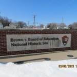 Brown vs. Board of Education National Historic Site Sign in Topeka, Kansas
