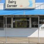 Dairy Corner Check Bounced Sign in New Vienna, Ohio