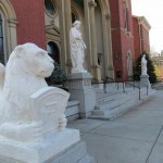 Statues at the Mother of God Roman Catholic Church in Cincinnati