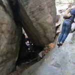 Dave Scrambling Around at Coopers Rock Outside Morgantown, West Virginia