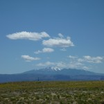 Distant LaSal Mountains