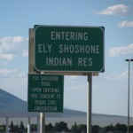 Ely Shoshone Indian Reservation Sign