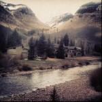 Mountain, Clear Creek, and Lodge in Georgetown Colorado