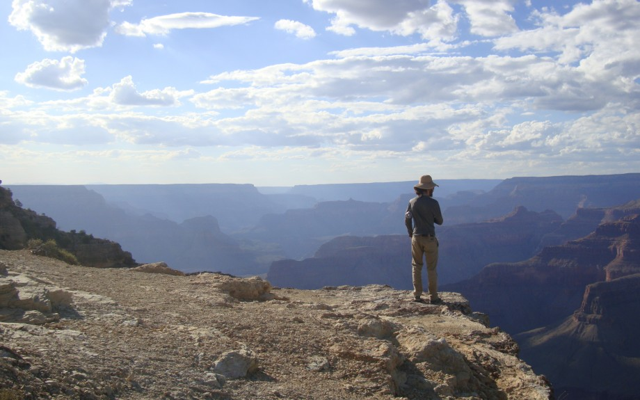 Looking out from the South Rim of the Grand Canyon