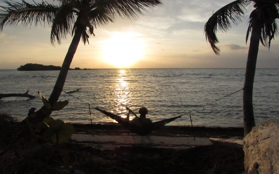 Jamming for the Sunrise from my Hammock in Bahia Honda State Park in the Florida Keys