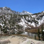 Heart Lake from Kearsarge Pass in Kings Canyon National Park