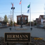 Hermann Sign and Statue