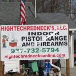 High Tech Redneck Sign in New Vienna, Ohio