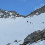 Hikers Coming Down from Forester Pass