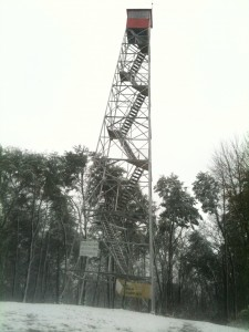 Ash Cave Lookout Tower in Hocking Hills