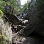 Stank Scrambling on the Hunt Trail on the Way up Mount Katahdin