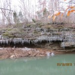 Icicles in Lusk Creek Wilderness in the Shawnee National Forest