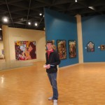 James Cromer at the Grunwald Art Gallery in Indiana University