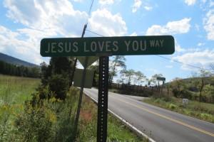 Jesus Loves You Way Sign