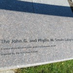 John G and Phyllis W Smith Labyrinth in Smale Riverfront Park on the Ohio River Bike Trail in Cincinatti