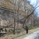 Me in Front of a Bluff on the Katy Trail