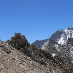 Matt Fro Climbing on the Rocks on Kearsarge Pass in Kings Canyon National Park