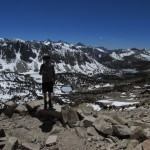 Standing on Top of Kearsarge Pass in Kings Canyon National Park