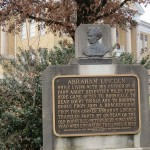 Abraham Lincoln Sign in Lincoln City, Indiana