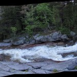 Little Niagara Falls in Baxter State Park in Maine Panorama