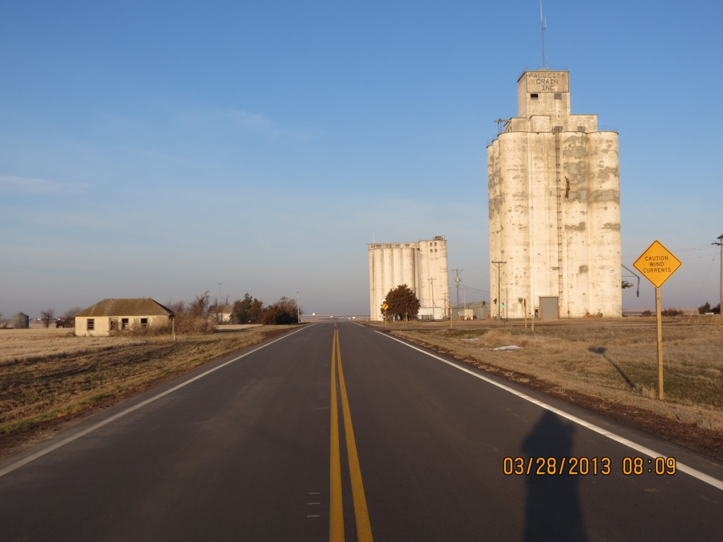 Grain Silo in Monument, Kansas
