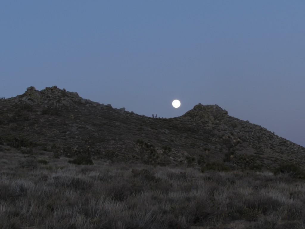 Moonrise Over the Hills of the Mojave Desert