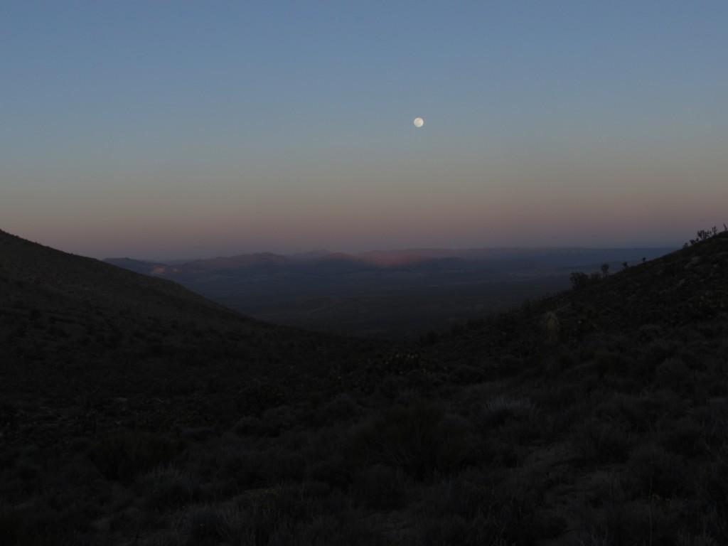 Moonrise Over the Mojave Desert