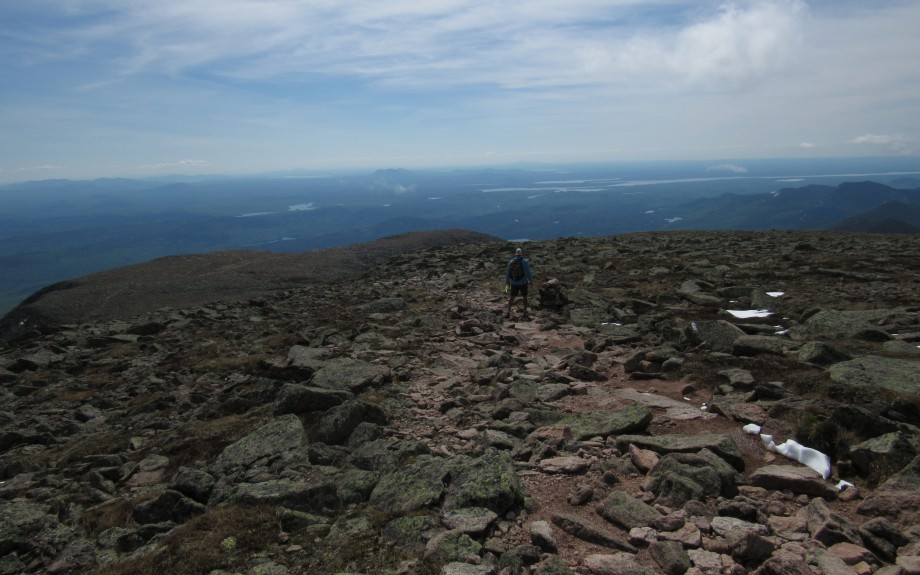 Stank Looking Back on the Way up Mount Katahdin in Maine
