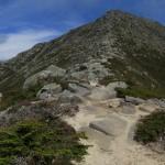 Climbing up Mount Katahdin in Maine Panorama
