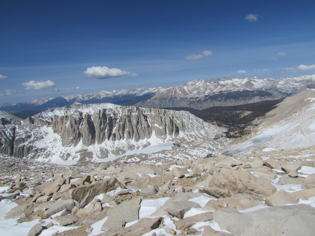 View from the Summit of Mount Whitney at 14,505 feet
