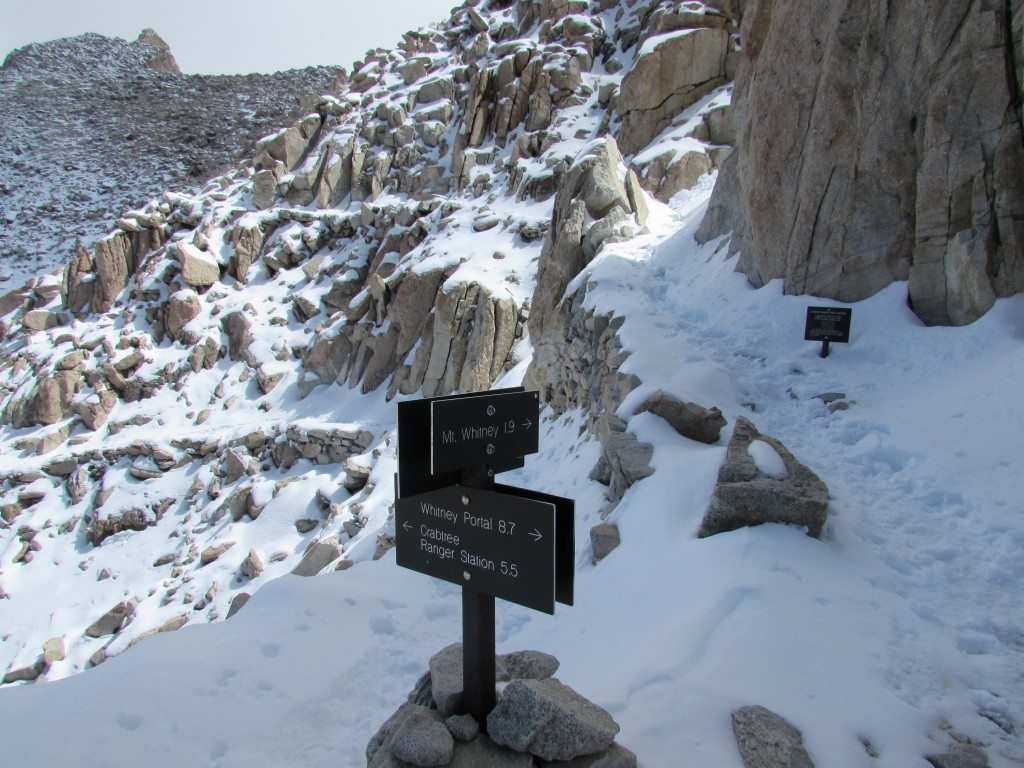 Trail Junction on Mount Whitney