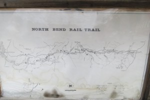 North Bend Rail Trail Sign and Map