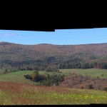 Oil Can in Sinking Creek Valley, Virginia Panorama