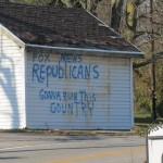 Political Graffiti in Chesterhill, Ohio