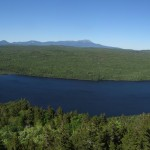 Rainbow Lake in the 100-Mile Wilderness in Maine Panorama