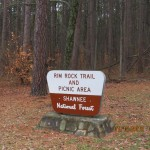 Rim Rock National Recreation Trail Sign in the Shawnee National Forest