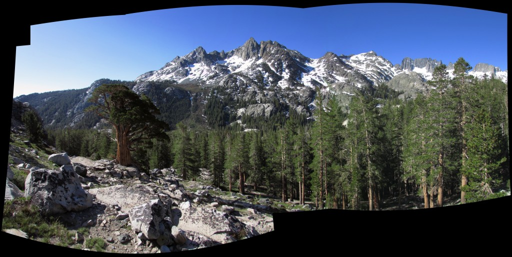 Ritter Range in the Ansel Adams Wilderness Panorama
