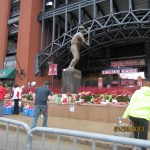 "Stan ""The Man"" Musial Memorial at Busch Stadium in St Louis"