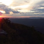 Stank on McAfee Knob at Sunset Outside Catawba, Virginia