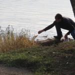 Tim Feeding his Tamed Ducks at Veto Lake in Belpre, Ohio
