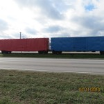 Train Cars in Shawneetown, Illinois