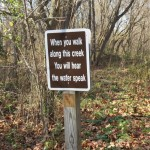 Sign in Verse on the Tri-County Triangle Trail