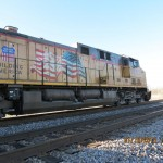 Union Pacific Railroad Engine Outside Marion