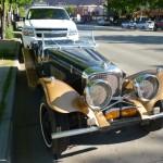 Vintage Jaguar in Moab, Utah