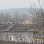 Washed Up Barge in the Missouri River