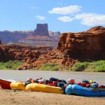 Boats on the Beach in Meander Canyon on the Dory Trip